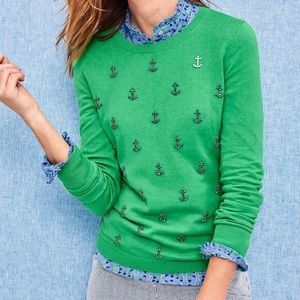 NWT Talbots Anchor Embellished  Sweater